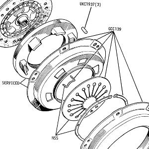 CLUTCH ASSEMBLY Driven Plate and Pressure Plate