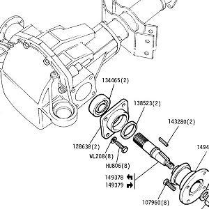 REAR AXLE Inner Axle Shafts