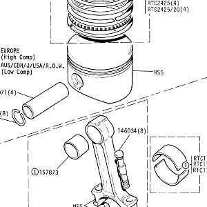 ENGINE - Piston, Connecting Rod