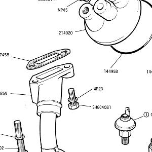 ENGINE - Oil Suction Pipe, Oil Transfer Adaptor, pressure switch