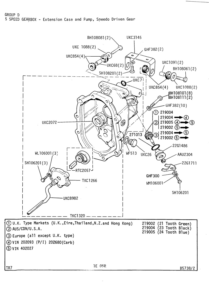 Revington Tr Tr7 Plate 1e 05r 5 Speed Gearbox Extension Case Wiring Diagram Open In New Window