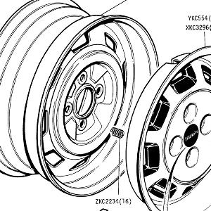 SUSPENSION - Road Wheels, Balance Weights, Wheeltrim