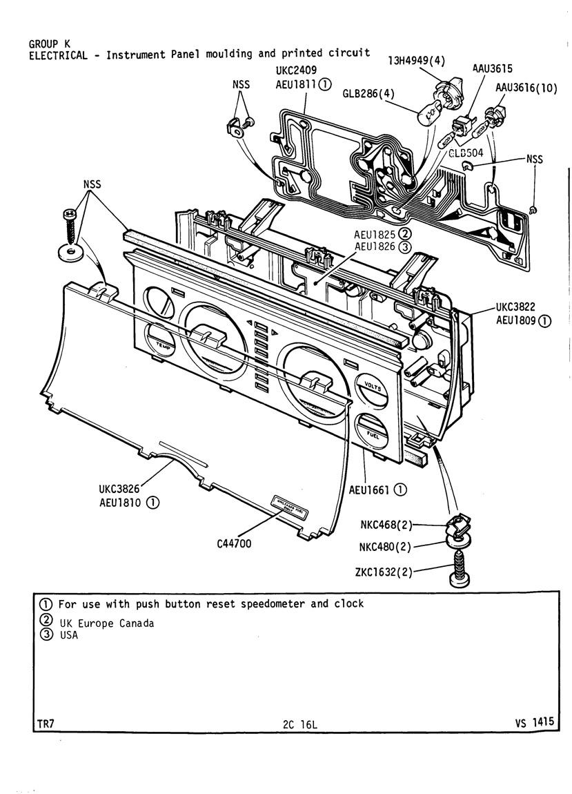 revington tr - tr7 plate 2c-16l - electrical
