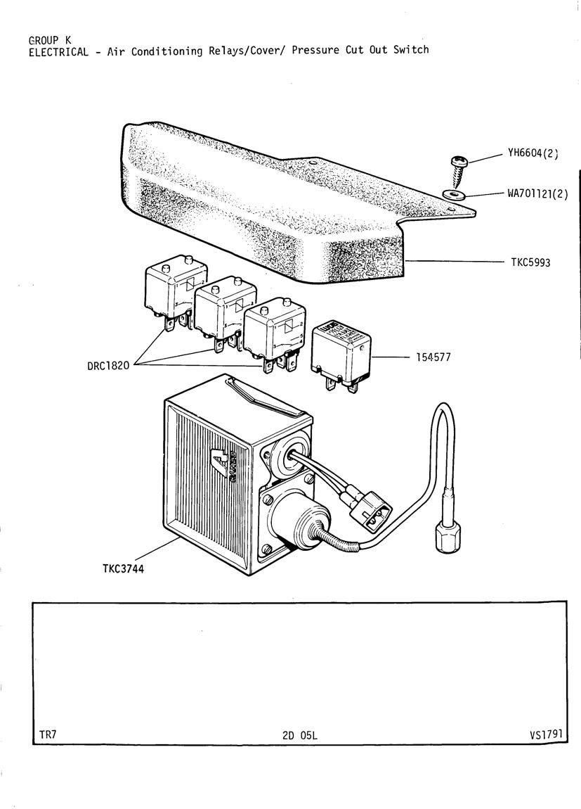 Revington Tr Tr7 Plate 2d 05l Electrical Air