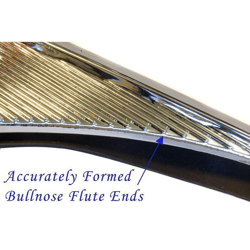 Accurately formed Flute Bullnose ends