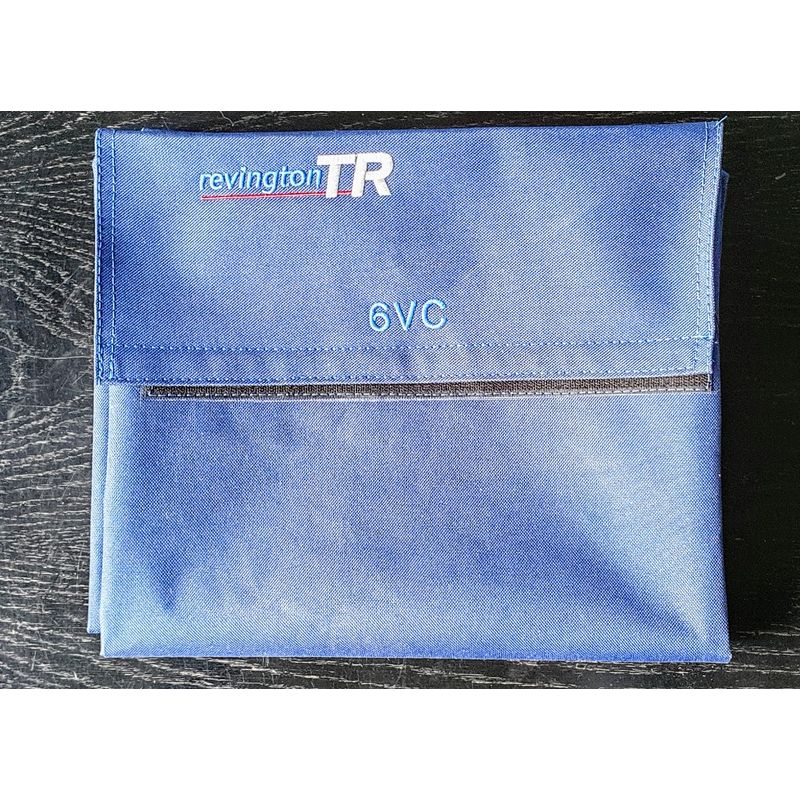 showing RTR logo and typical other logo. (Blue bag shown for reference)